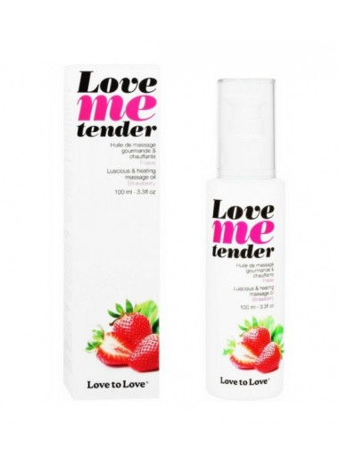 Love To Love Me Tender Masaje y Efecto Calor Sabor A Fresa 100ml
