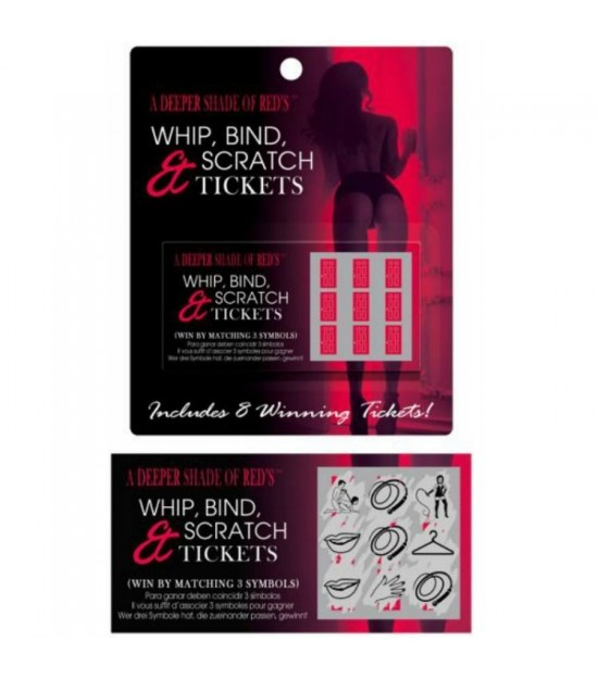 Juego Whip Bind And Scratch Tickets