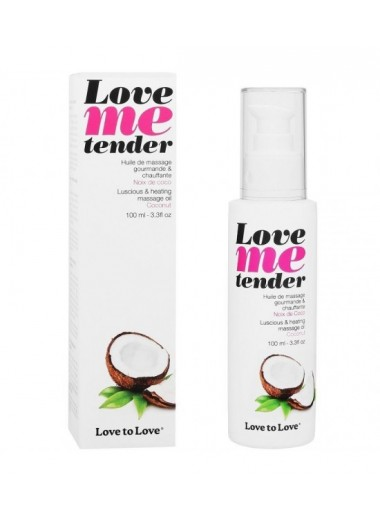 Love To Love Me Tender Masaje y Efecto Calor Sabor A Coco 100ml